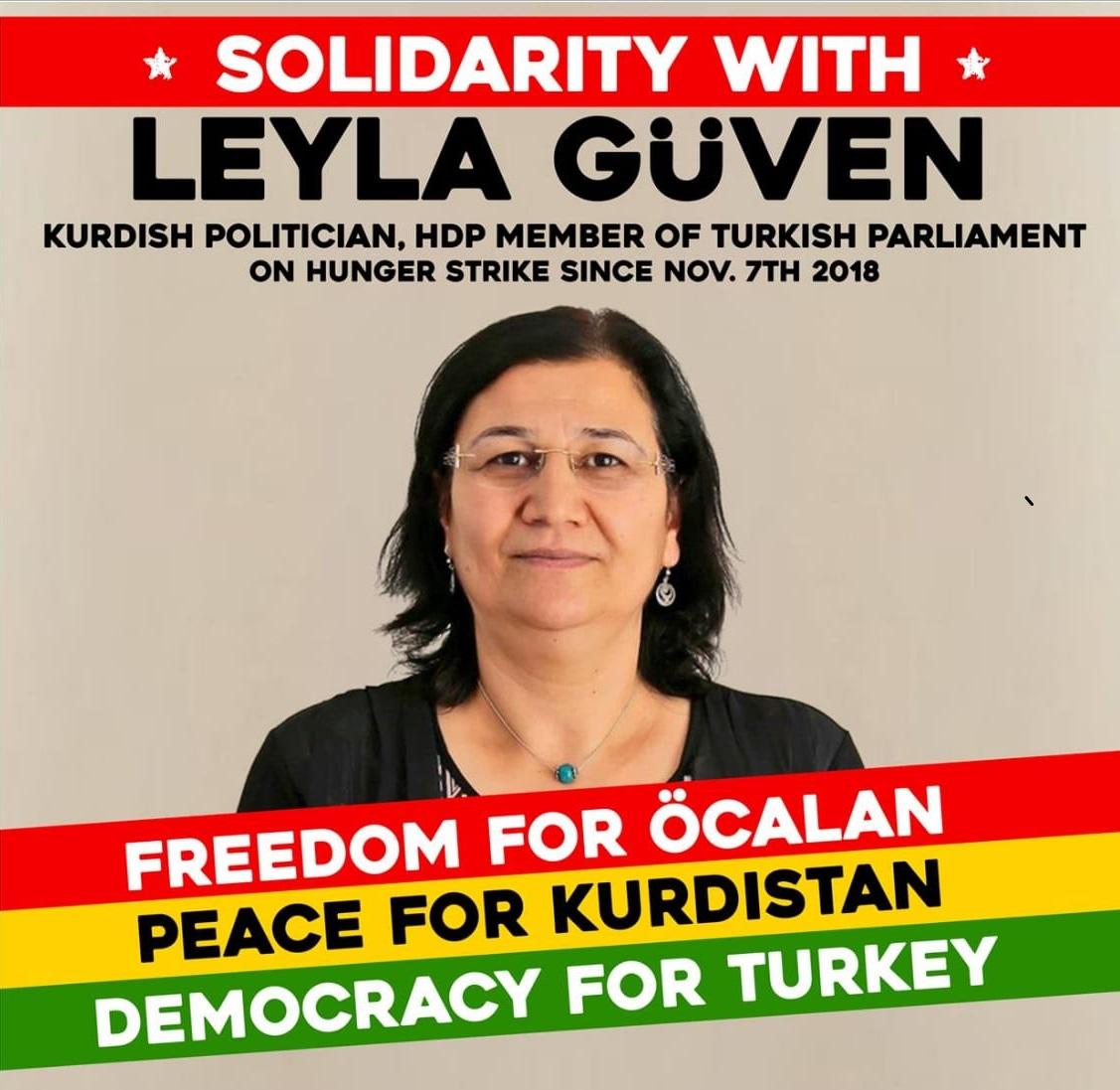 Campagne de soutien à Leyla Güven et aux grévistes de la faim