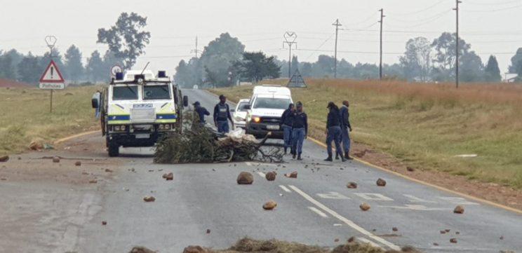 Barricade à Tshwane