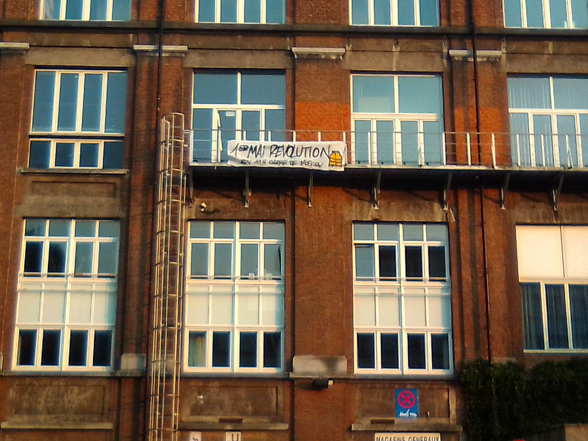 L'appel pour le 1er mai sur le bâtiment occupé