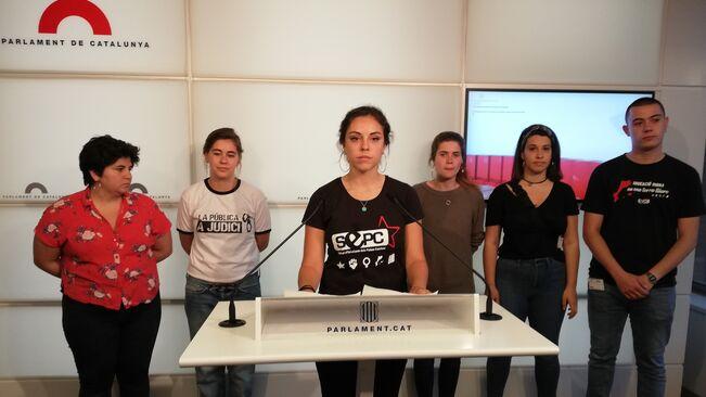 étudiants poursuivis en Catalogne