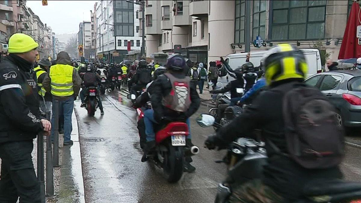 la manifestation des motards solidaires