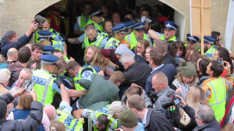 Le blocage du Dunedin Centrer