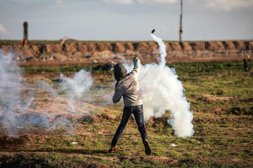 Manifestant à Gaza