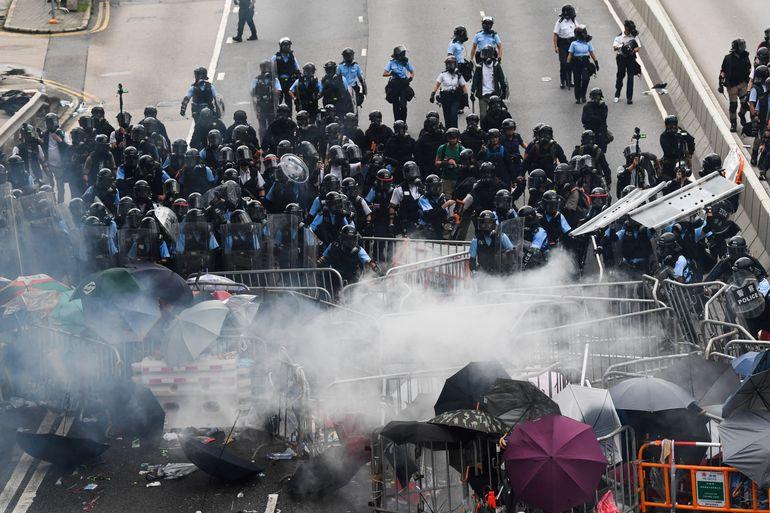 Affrontements à Hong kong ce mercredi