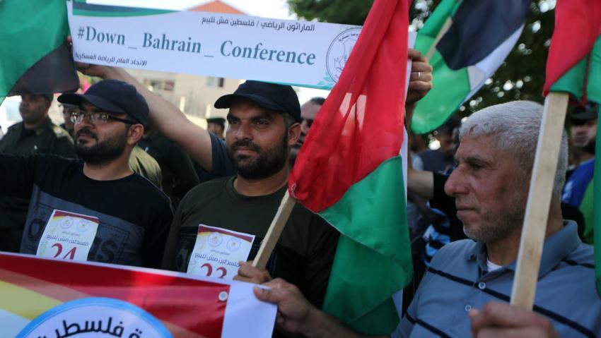 Manifestation contre la conférence de Barheïn