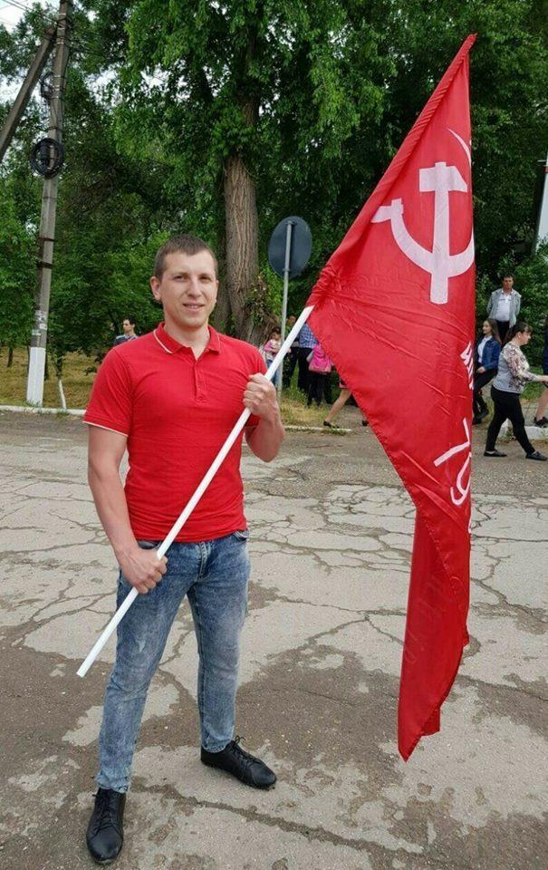 Pavel Grigorchuk lors d'une célébration de la victoire contre le fascisme nazi