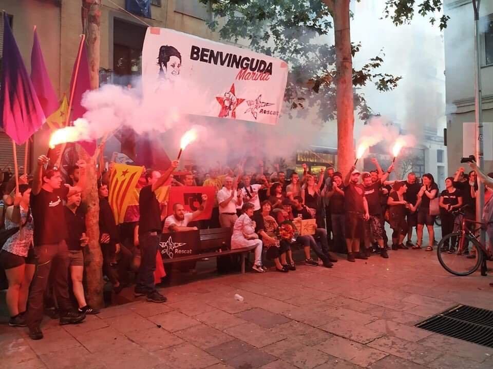 Le comité d'accueil à Barcelone