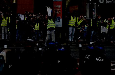 Manifestation de gilets jaune à Toulouse