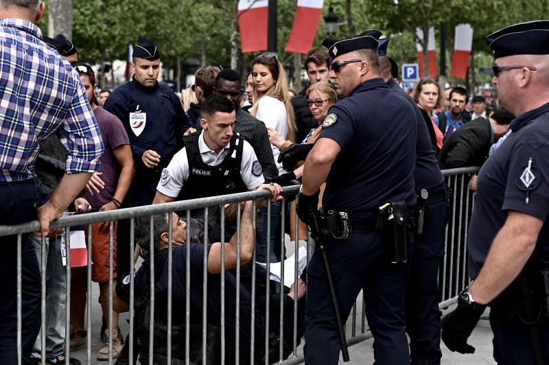 Arrestation cet après-midi à Paris