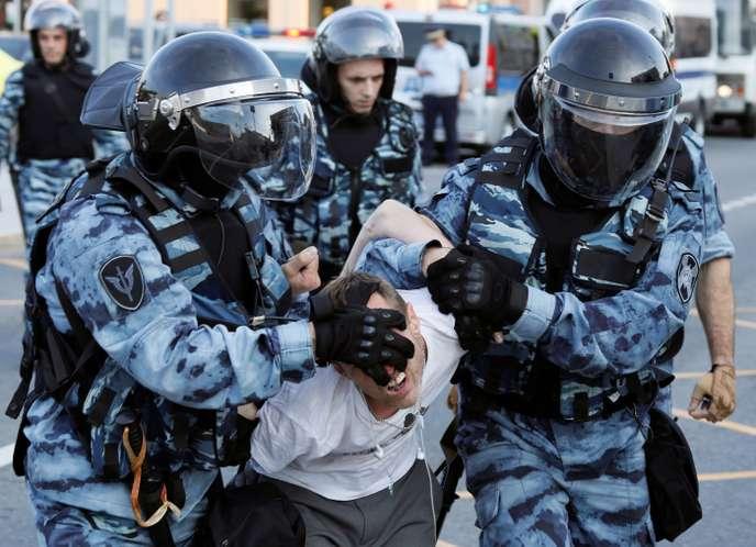 Arrestation ce samedi à Moscou