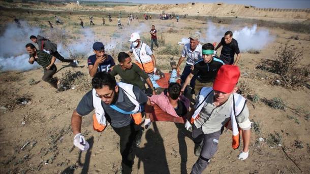 Evacuation d'un blessé ce vendredi à Gaza