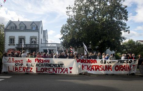 Rassemblement de solidarité avec Lorentxa Beyrie