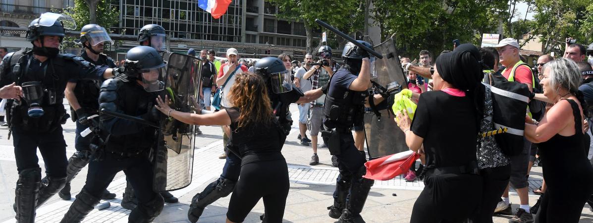 Charge policière samedi à Montpellier