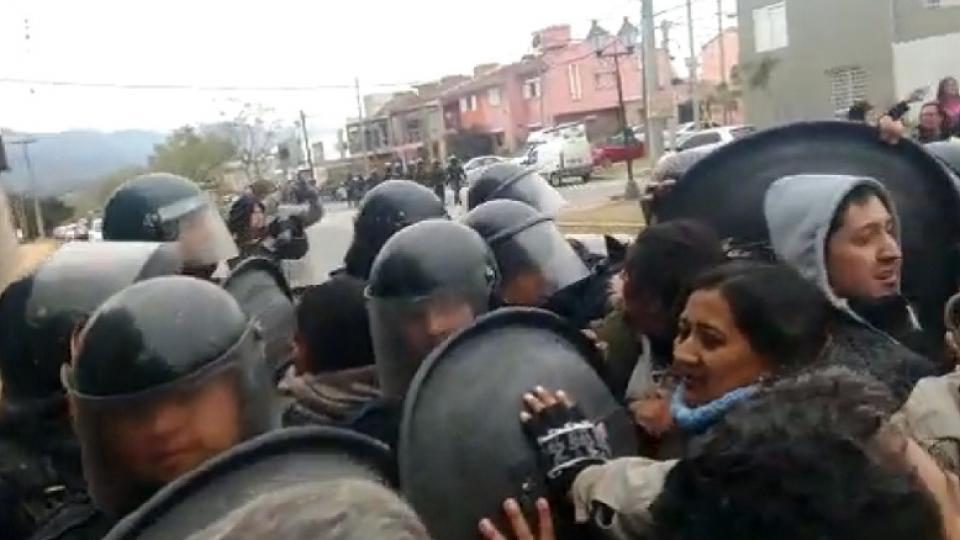 La manifestation à Salta