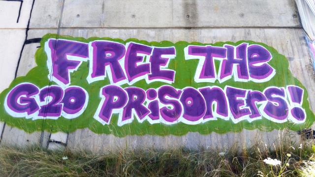 Tag de 2017 en Solidarité avec les prisonniers du G20