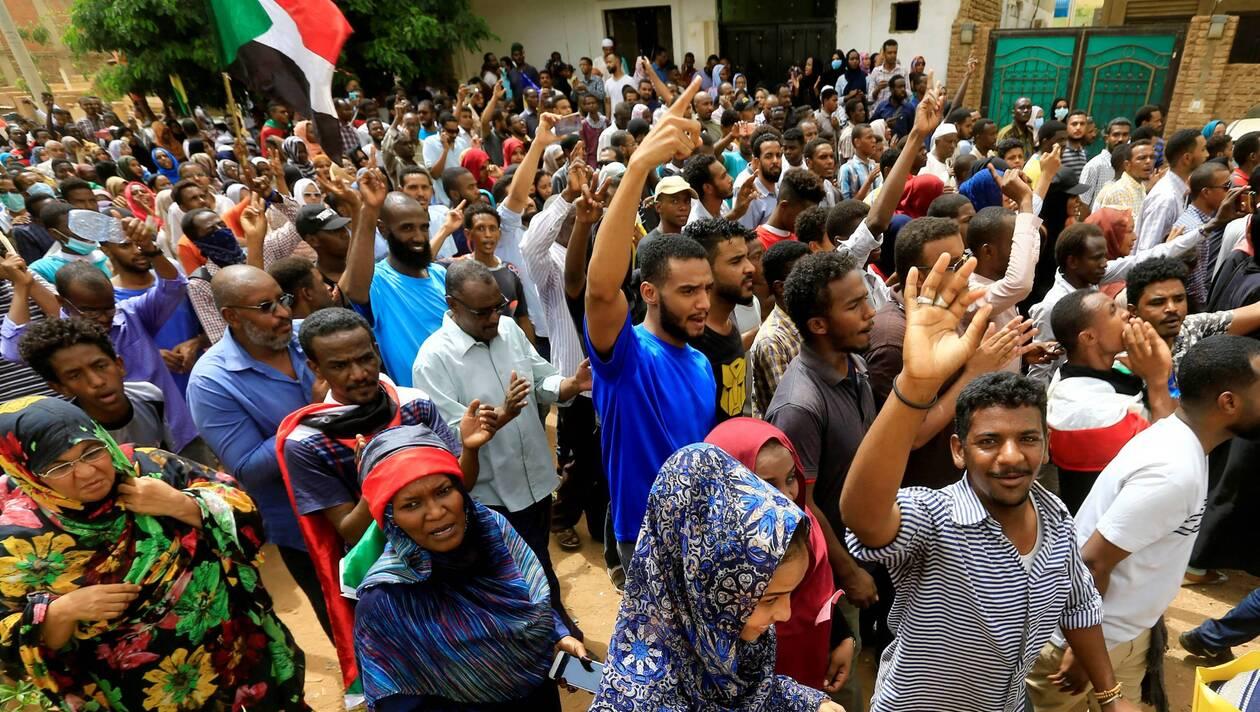 Manifestants ce dimanche à Khartoum