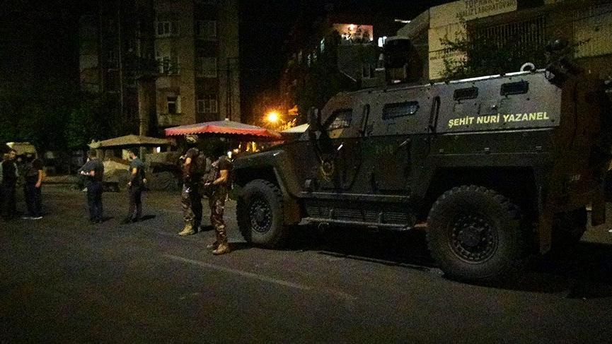L'opération policière rue Karacadağ, à Bağlar
