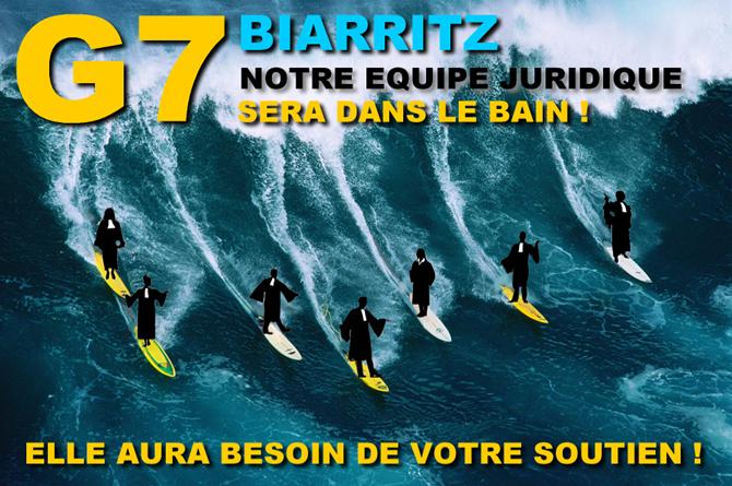Constitution d'une Défense Collective pour le G7 de Biarritz