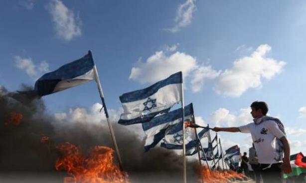 SDrapeaux israéliens brûlés à Gaza