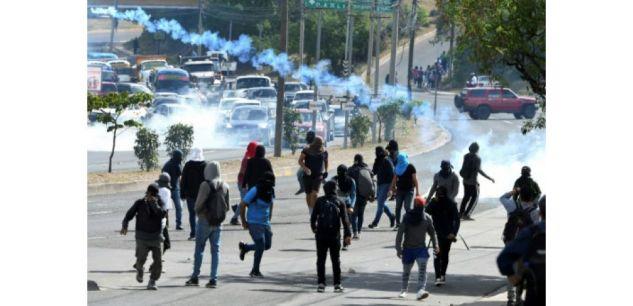 Les affrontements du 5 août à Tegucigalpa