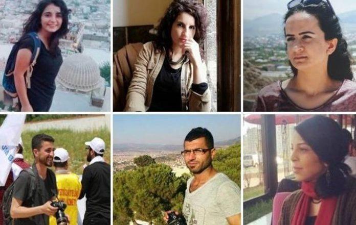 Six journalistes arrêtés à Madrin et à Diyarbakir