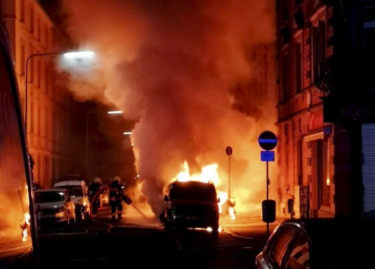 L'incendie à Francfort-Bockenheim