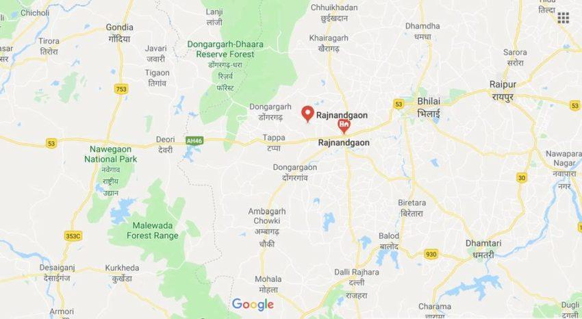 Le district de Rajnandgaon, dans le Chhattisgarh