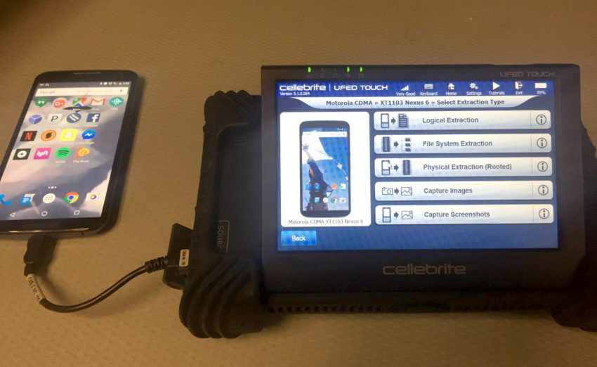 Le dispositif de Cellebrite