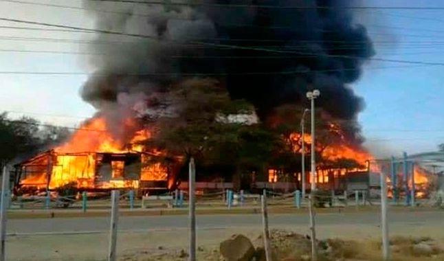 L'incendie des locaux de Confipetrol.