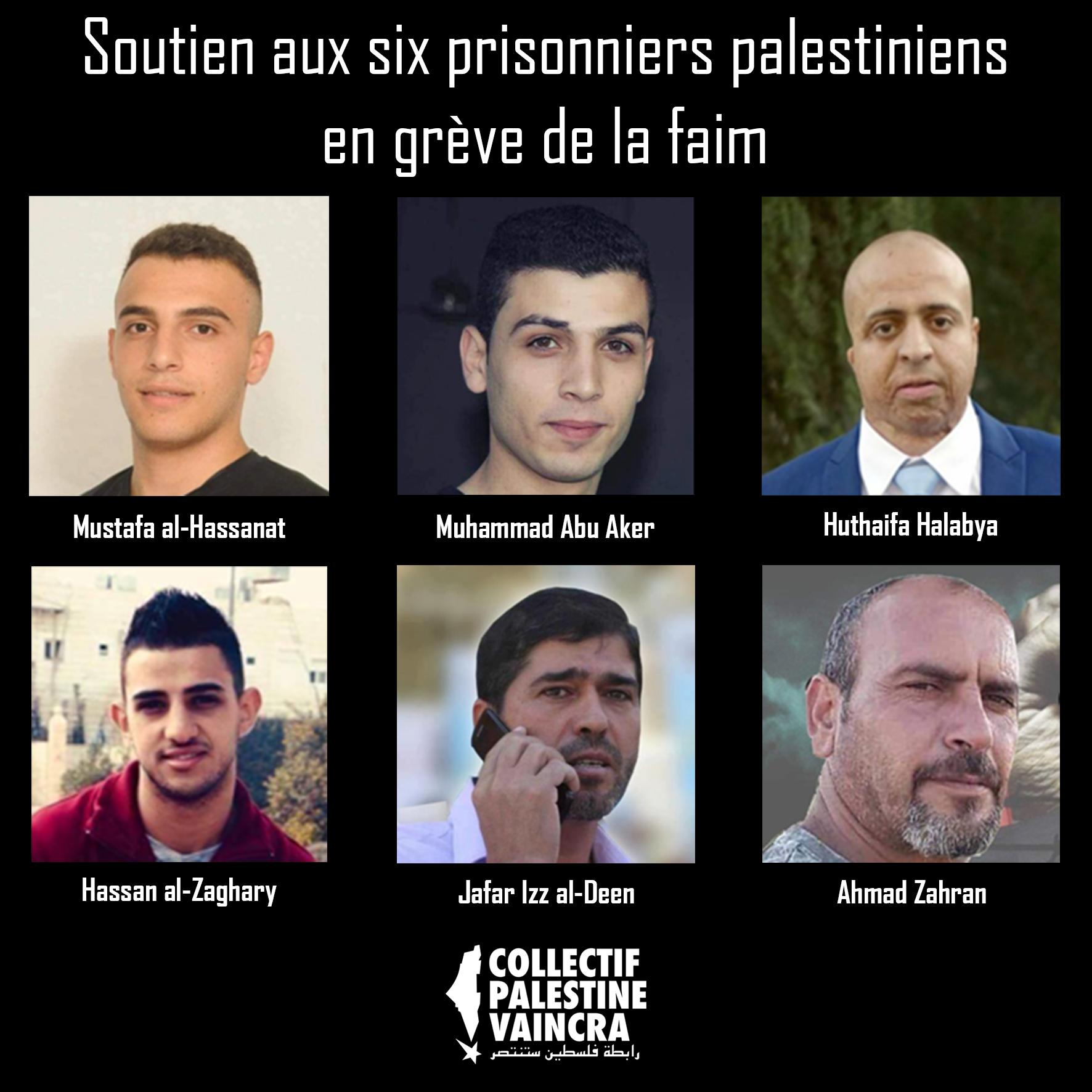 Six des 28 prisonniers en grève de la faim