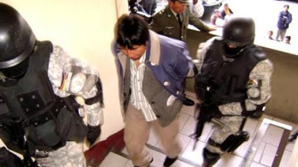 Luis Enrique Paredes Del Pino, lors d'une précédente arrestation