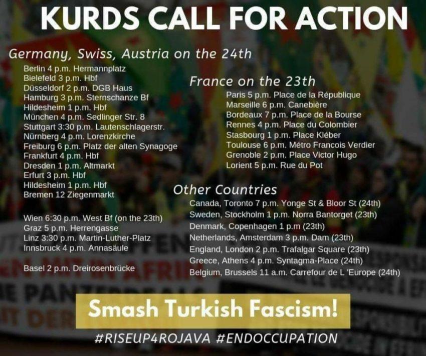 Manifestations du mouvement du mouvement kurde contre l'AKP