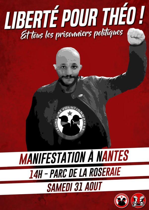 Une affiche pour une manifestation pour la libération de Théo