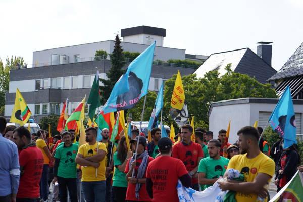 Les participants à la marche