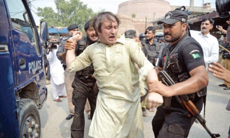 Arrestation d'un manifestant