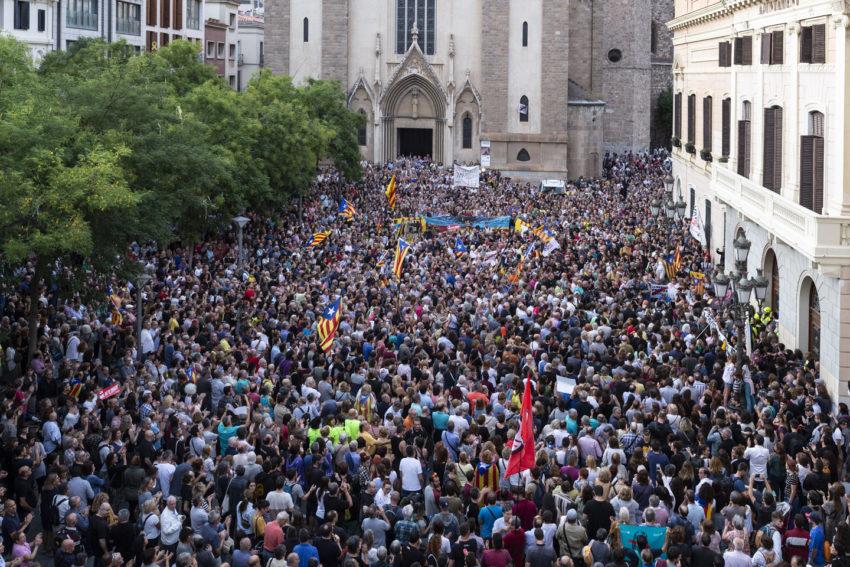 Rassemblement de soutien aux 9 prisonniers indépendantistes catalans à Sabadell
