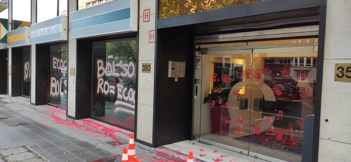 L'ambassade brésilienne à Bruxelles taguée