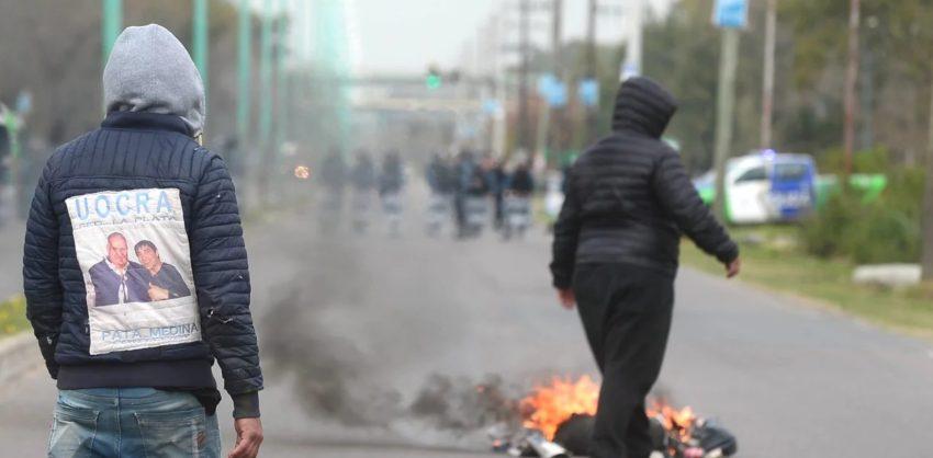 Les affrontements à La Plata