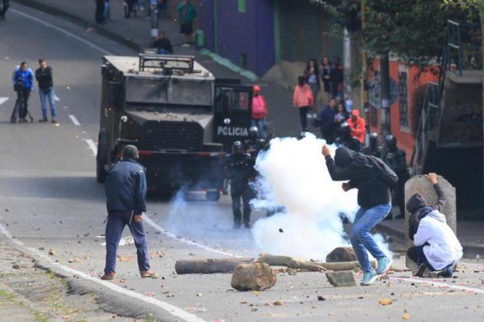 Les affrontements de Bogota