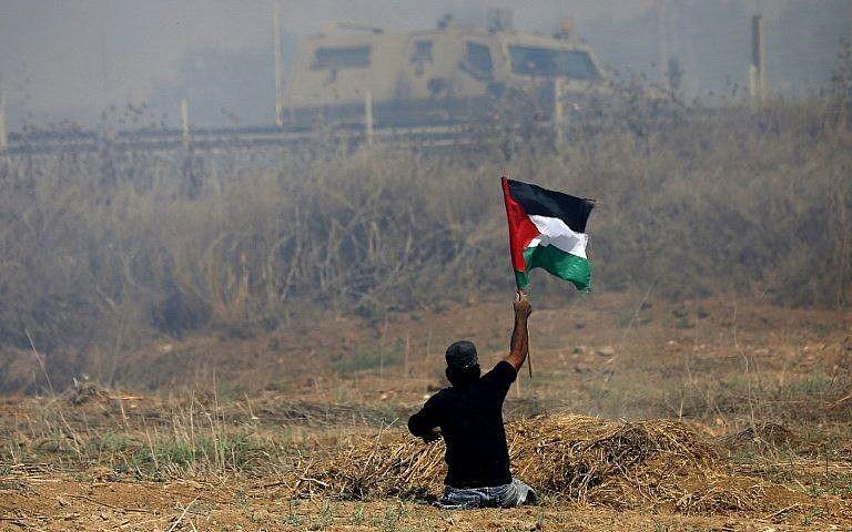 Manifestant palestinien à Gaza (archive)