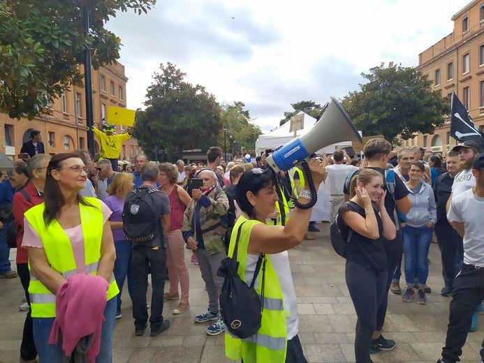 Le rassemblement précédant la manifestation à Toulouse