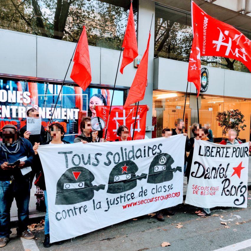 Le rassemblement de cet après-midi de bant l'ambassade d'Argentine à Bruxelles