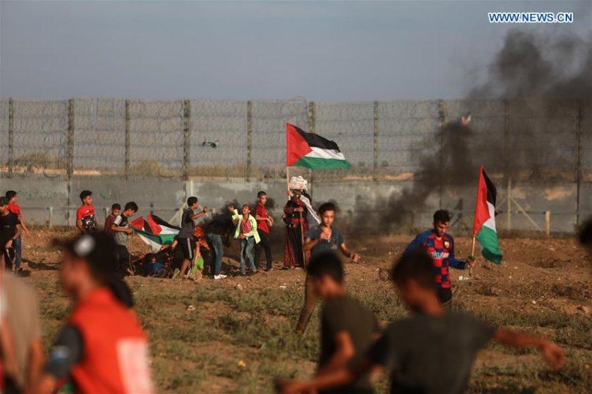 La manifestation à Gaza ce vendredi