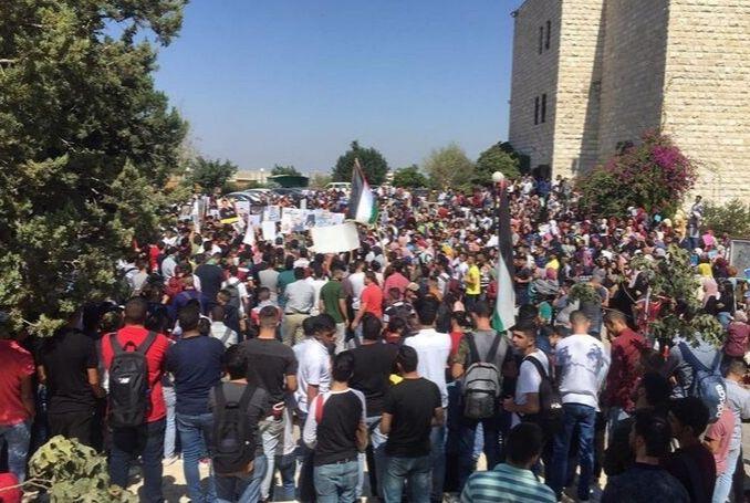 La manifestation à Birzeit