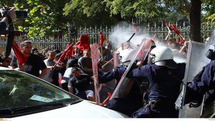 Les affrontements à Athènes