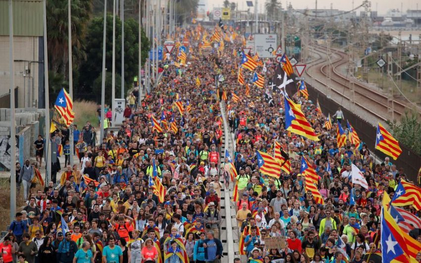 La manifestation de Barcelone