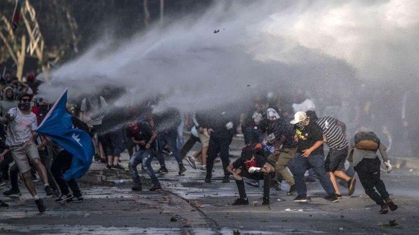 Les affrontements de mardi à Santiago