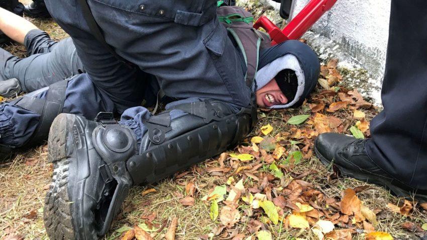 Expulsion violente d'un squat à Louvain-La-Neuve