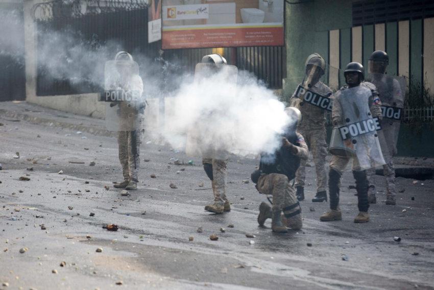 Répression de la manifestation d'hier en Haïti