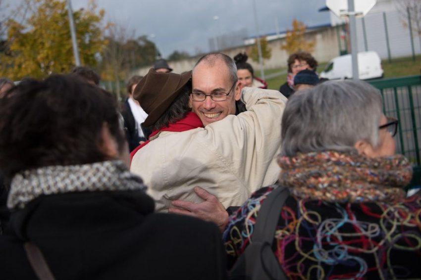 Vincenzo à sa sortie de la prison de Rennes